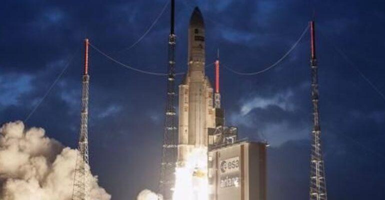 Lancio di satellite MSG-4 da Darmstadt